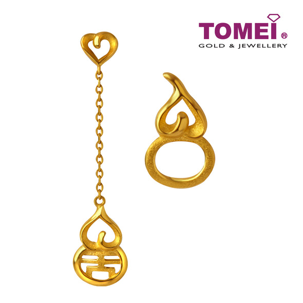 Auspicious Wu Lou Gourd Earrings | Tomei x Xifu Yellow Gold 999 (24K) (XF-BNHH-FY-Q)