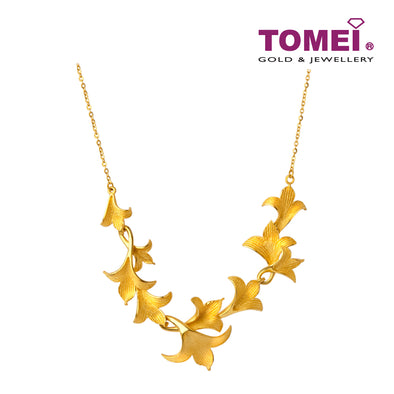 Blossoming Lilies Necklace | Tomei x Xifu Yellow Gold 999 (24K) (XF-SQSM-L-N)