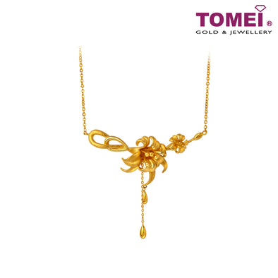 Blossoming Flowers Necklace | Tomei x Xifu Yellow Gold 999 (24K) (XF-WMLW-M-N)
