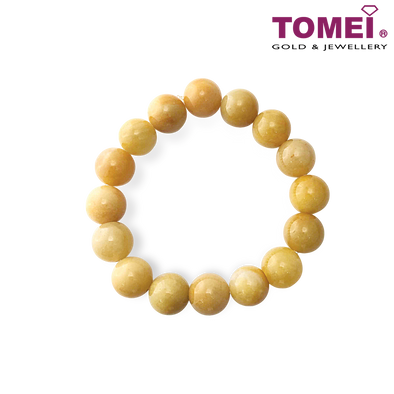 Tomei Palace Grace Brown Buff Jade Bracelet (JN-GPL-BCL-CLD)