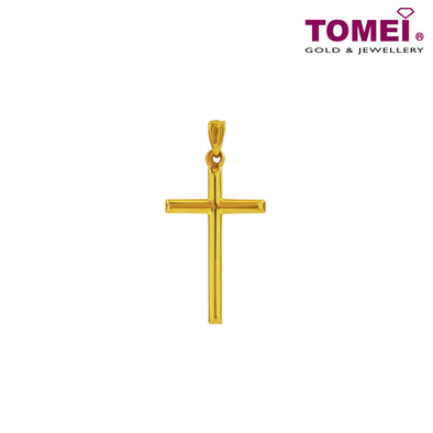 "Tomei Yellow Gold 916 (22K) ""Ooh La La"" Cross Pendant (XXSTP2092-1C)"