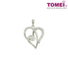 Entwined Love Diamond Pendant | Tomei White Gold 375 (9K) (P5385)