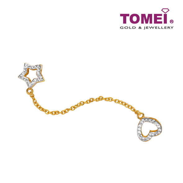 [Online Exclusive]Star of My Love Charm | Tomei 916 (22K) Yellow Gold (TM-YG0660P-2C)