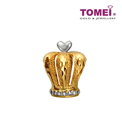 [Online Exclusive]Jewel Crown Charm | Tomei Yellow Gold 916 (22K) (TM-P2022-2C)