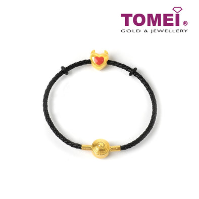 [Online Exclusive]Evilly Spoiling You Love Charm | Tomei Yellow Gold 999 (24K) (BTP-5D-EC-005) Black