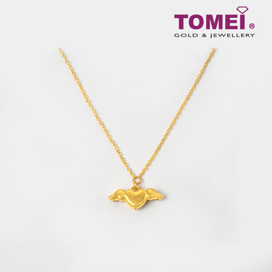 Love of Angelic Wings Necklace| Tomei Yellow Gold 999 (24K) (BTN-5D-005)