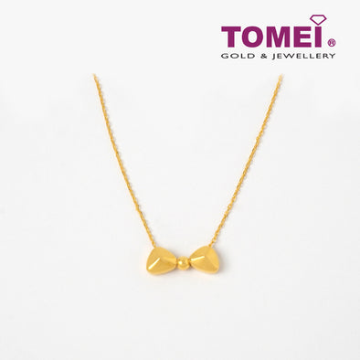 Sweetie Bowtie Necklace | Tomei Yellow Gold 999 (24K) (BTN-5D-SET16)