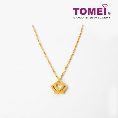 Seashell Crown Necklace | Tomei Yellow Gold 999 (24K) (BTN-5D-015)