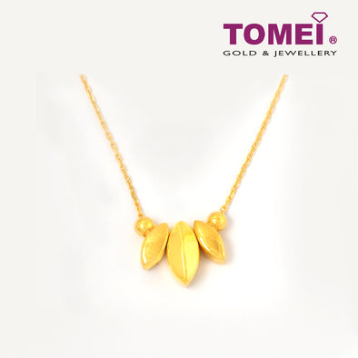 Leaf Me Not Necklace | Tomei Yellow Gold 999 (24K) (BTN-5D-SET3)