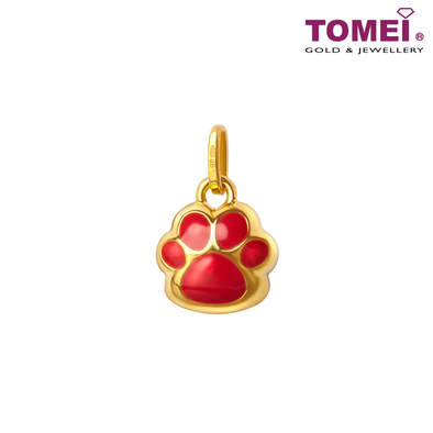 Hearty Footprint Pendant | Tomei Yellow Gold 999 (24K) (BTP-5D-EC-006)