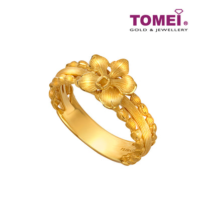 Flower Ring | Size 14 | Tomei x Prima Gold Yellow Gold 999 (24K) (QO0003408)