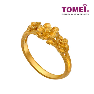 Flower Ring | Size 15 | Tomei x Prima Gold Yellow Gold 999 (24K) (QO0003014)