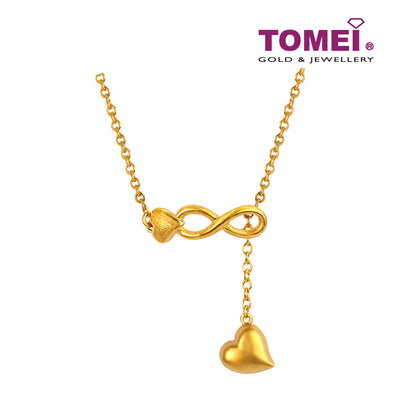 Infinity Heart Necklace | 45cm | Tomei x Prima Gold Yellow Gold 999 (24K) (QN0000432)