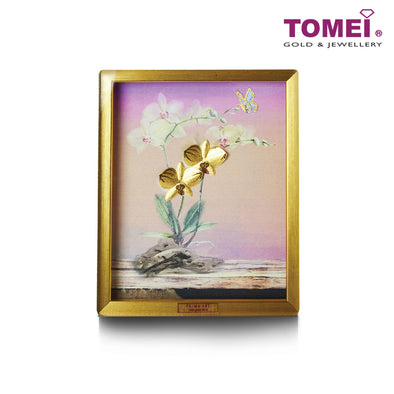 [Online Exclusive]Lovely Orchid Frame | Tomei x Prima Art Yellow Gold 999 (24K) Gold Sheet (CGS-0697-05)