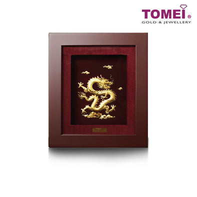 Shining Dragon Frame (飞龙在天) | Tomei x Prima Art Yellow Gold 999 (24K) Gold Sheet (CGS-0515-17)