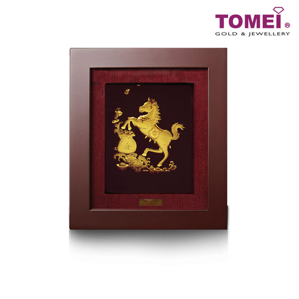 Treasure Horse Frame (一马当先) | Tomei x Prima Art Yellow Gold 999 (24K) Gold Sheet (CGS-0515-04)