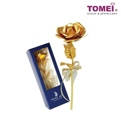 [Online Exclusive]Everlasting Golden Rose | Tomei x Prima Art Yellow Gold 999 (24K) Gold Sheet (ROSE-PG)
