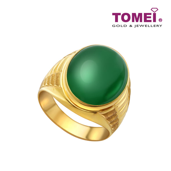 Jade Ring | Tomei Yellow Gold 835 (20K) (JO0002827)