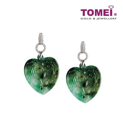 Hearty Love Jade Earrings | Tomei White Gold 750 (18K) (VQ0000032)