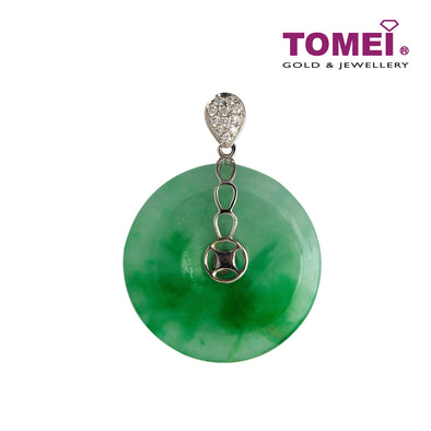 Circle of Completeness Jade Pendant | Tomei White Gold 750 (18K) (JP0011067)
