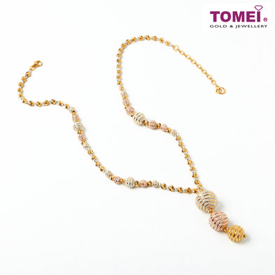 [Online Exclusive] Majestically Magnificent Necklace | Tomei Yellow Gold 916 (22K) (9N-NJG18004-3C)