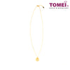 Xi Reimagined Minimalist Necklace | Tomei Yellow Gold 999 (24K) (BTN-5D-023)