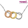 Tomei White Gold 375 (9K) Simplicity Sparks Necklace (P4254)