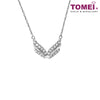 "[Online Exclusive] Tomei White Gold 375 (9K) ""V Classy"" Diamond Necklace (B1061)"