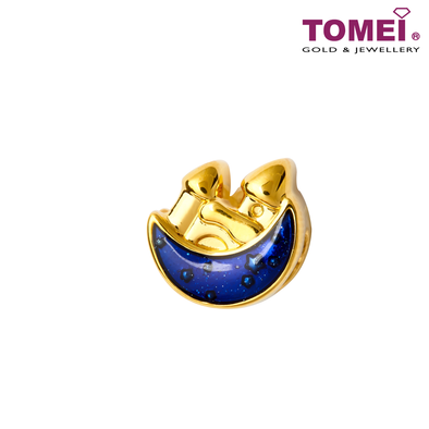 [Online Exclusive] Castle of Forever Love Color Changing (Dark Blue Sky to Starry Sky) Charm | Tomei Yellow Gold 999 (5D) with Complimentary Bracelet (BTP-5D-EC-007)