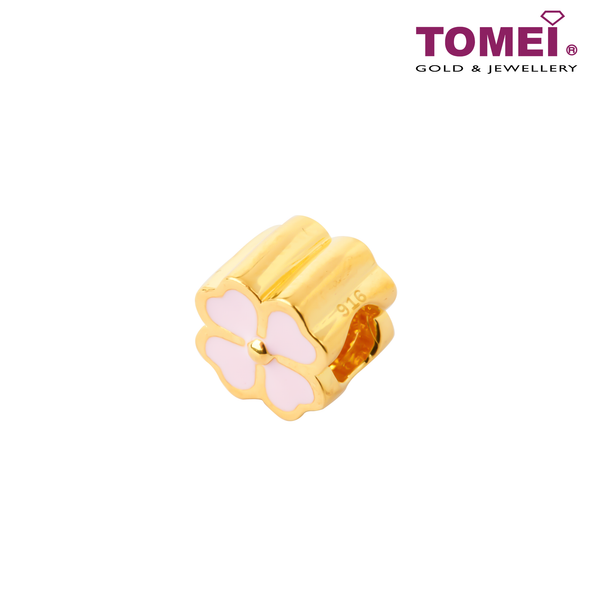[Online Exclusive] [Limited Edition] Pretty Lovely Lucky Clover Charm | Tomei Yellow Gold 916 (22K) with Complimentary Bracelet (TM-ABIT067-HG-EC)