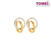Fire & Ice Dual-Tone Hoop Earrings | Tomei Yellow Gold 916 (22K) (XXNHUE202023-YW-2C)