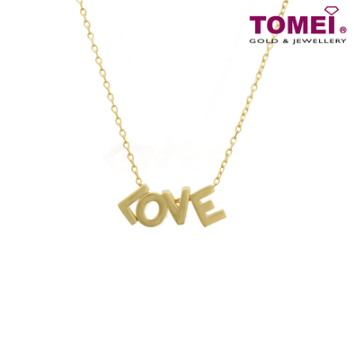 Love Is ... Necklace | Tomei Yellow Gold 916 (22K) (AS-X1WN190403-1C)