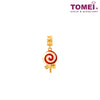 Lollipop Charm | Tomei Yellow Gold 916 (22K) with Complimentary Red Bracelet (TM-YG0541P-R-EC)