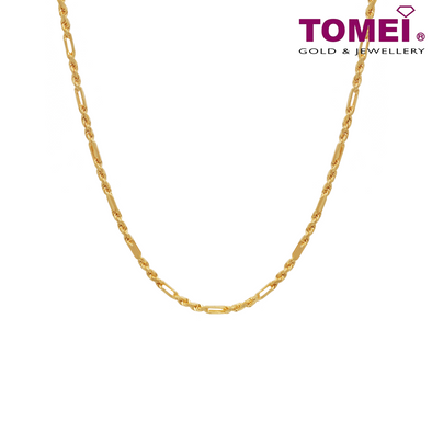 Men's Twisted Cable Chain | Tomei Yellow Gold 916 (22K) (9N-TZQC20-30)