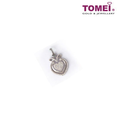 [Last Piece] Pavé of  Splendorous Spectacle Heart Diamond Pendant | Tomei White Gold 750 (18K) (DP0100580)