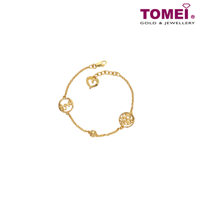 [Last Pieces]Flower of Love Baby Bracelet | Tomei Yellow Gold 916 (22K) (TZ-B2934-1C)