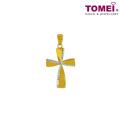 "Tomei Yellow Gold 916 (22K) ""Ooh La La"" Gift of Love Pendant (X3P210346-YW-DC-2C)"