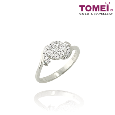 Shine of Love Diamond Ring | Tomei 375 (9K) White Gold (R1976)