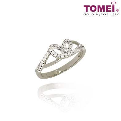 Tomei 375 (9K) White Gold Diamond Ring (R3930)