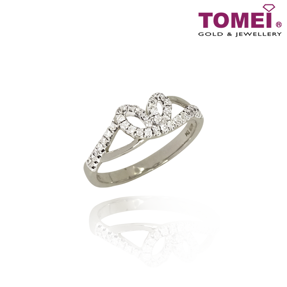 Love with Radiating Sparkles Diamond Ring | Tomei 375 (9K) White Gold (R3930)