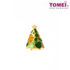 Christmas Tree Charm | Tomei Yellow Gold 916 (22K) with Complimentary Red Bracelet (TM-YG0707P-EC)