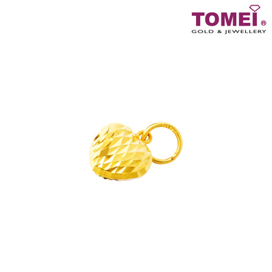 Dual-Tone Beloved Reimagined Glitzy Glam Pendant |  Tomei Yellow Gold 916 (22K) (9P-LSXR-11MM-2C)