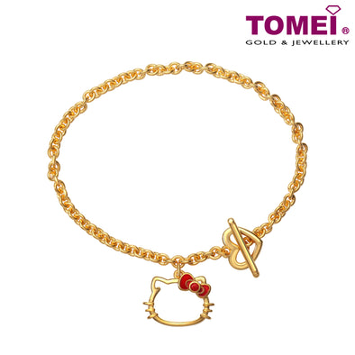 "Tomei x Hello Kitty Yellow Gold 916 (22K) ""Yume Collection"" Bracelet (HK-YG1166B-EC)"