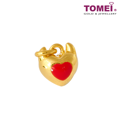 [Online Exclusive] Evilly Spoiling You Color Changing (Flaming Red to Candy Pink) Love Pendant | Tomei Yellow Gold 999 (5D) (BTP-5D-EC-LLT-004)
