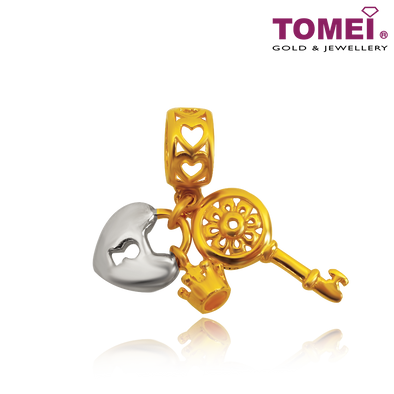 "Tomei Yellow Gold 916 (22K) Colors of Memories ""Unlock Your Heart"" (TM-YG0656P-2C)"