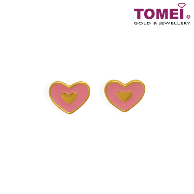 Pinky Love Earrings | Tomei Yellow Gold 916 (22K) (EE2837-P-EC)