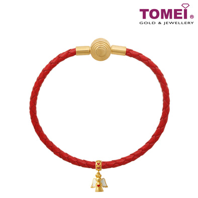 Angel Charm | Christmas | Tomei Yellow Gold 916 (22K) with Complimentary Red Bracelet (TM-YG0507P-EC)