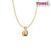 [Online Exclusive] Bebling Glitzy Glam Dual-Tone Pendant with Chain | Tomei Yellow Gold 916 (22K) (9P-DM-P6222-2C-WC)