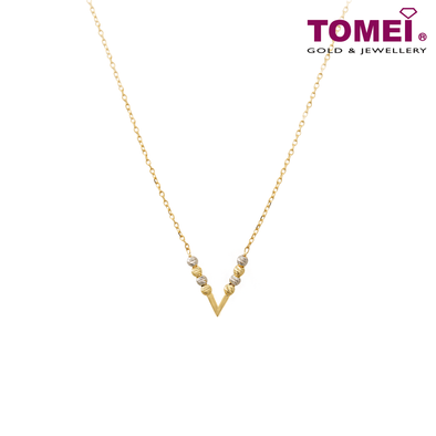 Love Is ... Necklace | Tomei Yellow Gold 916 (22K) (AS-NXC181140-30-2C)