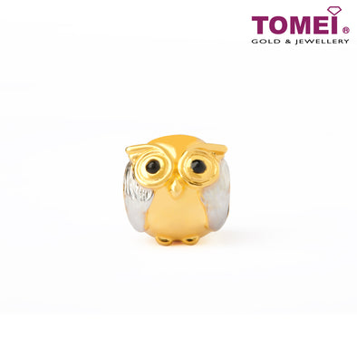 Owl Charm | Tomei Yellow Gold 916 (22K) with Complimentary Red Bracelet (TM-YG0677P-EC)